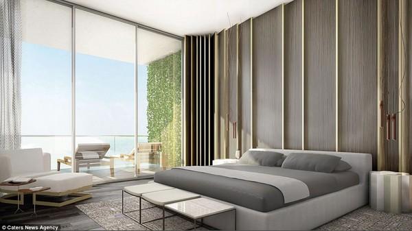 Căn penthouse này có tới 8 phòng ngủ, toàn bộ ban công đều hướng ra biển. Chỉ cần mở cửa sổ, du khách sẽ được thưởng thức khung cảnh rộng lớn của thành phố Dubai cũng như bờ biển xinh đẹp ngay phía dưới.