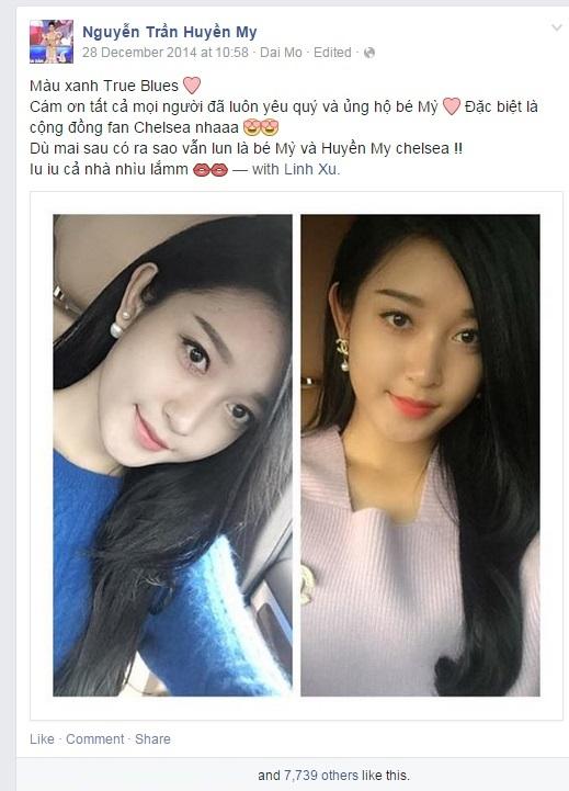 Fanclub Chelsea 7 triệu người like đăng ảnh Á hậu Huyền My 3