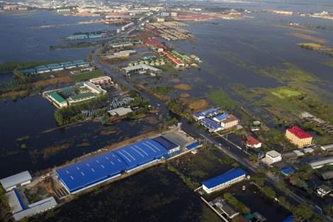 Một góc của Bangkok trong trận lũ kinh hoàng cách đây 4 năm (ảnh: Business Insider)
