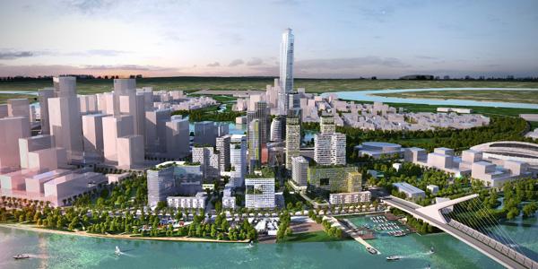 Phối cảnh tòa tháp 86 tầng và dự án Empire City
