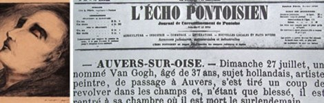Bài báo về cái chết của Van Gogh trên tờ LEcho Pontoisien, ngày 7-8-1890.
