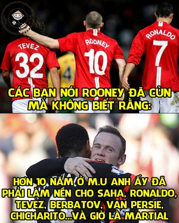 Nỗi khổ của Rooney.
