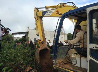 Xe đào đã được huy động để tìm thi thể nạn nhân.