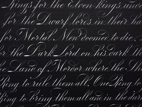 Những nét chữ điêu luyện của Huy Hoàng