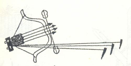 Mẫu thiết kế của một chiếc nỏ thời xưa.