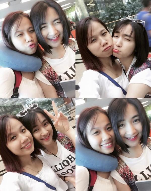 """Cô tỏ ra thân thiết đặc biệt với Thu Thảo. Ngay sau khi về Việt Nam, Thu Thảo chia sẻ bức ảnh chụp cùng Hòa Minzy, kèm lời bình luận: """"Chị em chúng tớ về đến nơi rồi""""."""