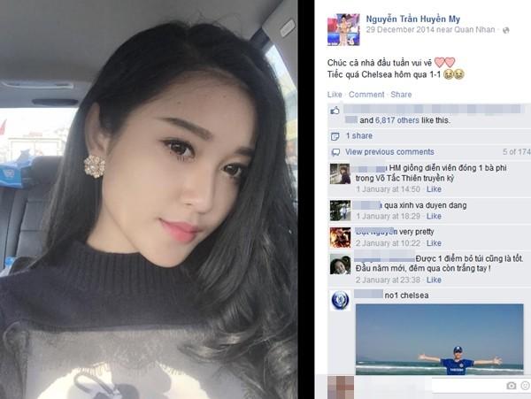 Fanclub Chelsea 7 triệu người like đăng ảnh Á hậu Huyền My 4