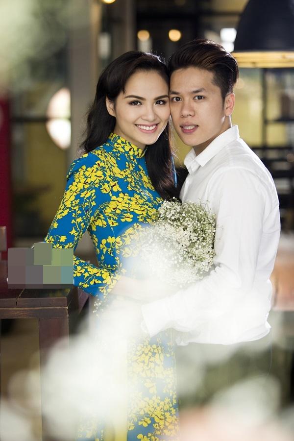 Ảnh cưới của Diễm Hương và người chồng hiện tại