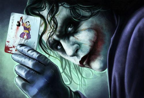 Sự thông minh điên loạn biến Joker trở thành vua của những kẻ bệnh hoạn. Hình minh họa