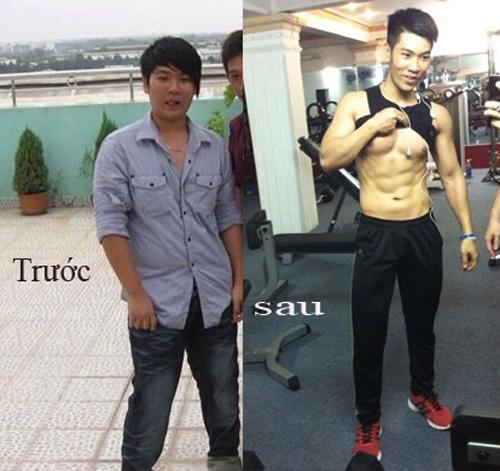 Lê Nguyễn Phú Giàu từng sai lầm ăn kiêng nên giảm từ 80kg xuống còn 59kg. Sau đó, chàng trai này phải cân đối lại chế độ ăn uống và nâng mức cân nặng lên trung bình 68-69kg với một thân hình 6 múi nhờ tập gym.