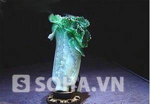 Bắp cải bằng ngọc phỉ thúy trong mộ Từ Hy Thái hậu