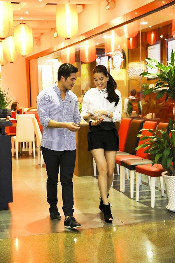 Điểm dừng chân cuối cùng của Trương Ngọc Ánh là tại nhà hàng cô mới khai trương.