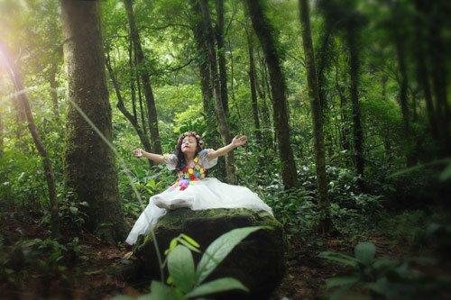 Nam Phươngrất thích thú không khí trong rừng dù nơi đây có rất nhiều côn trùng nguy hiểm