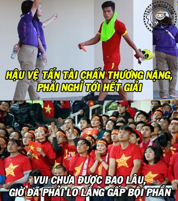Rất tiếc cho Huỳnh Tấn Tài với chấn thương ngay trận ra quân