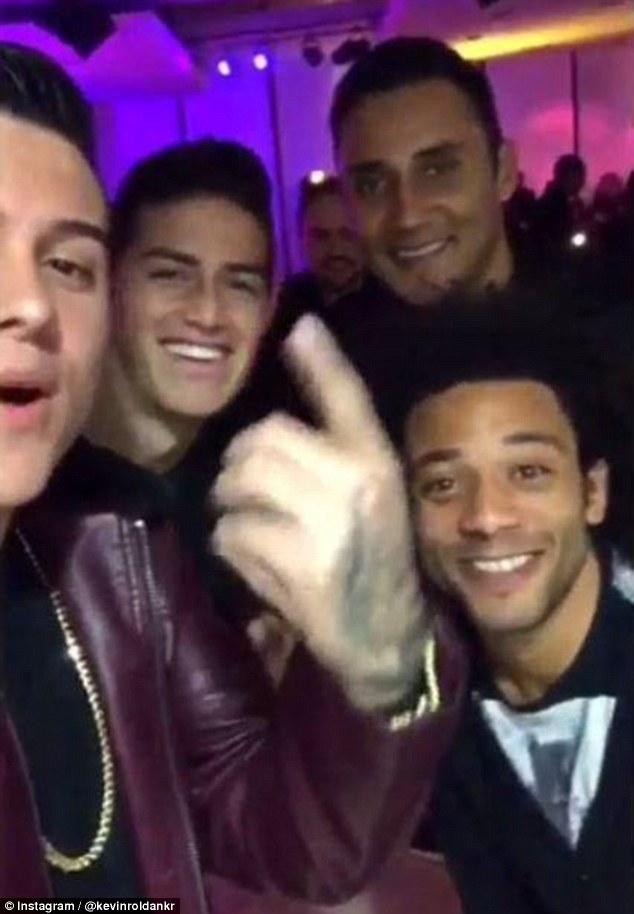 Các ngôi sao Real Madrid tới dự tiệc của Cris Ronaldo