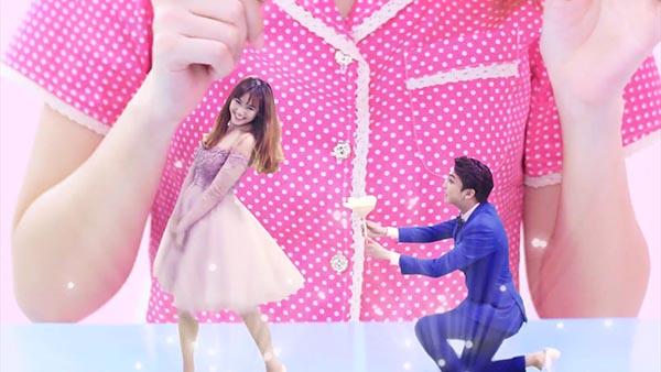 Cô cũng gây được ấn tượng trong lần đầu kết hợp và bắt cặp với hot boy, diễn viên Bê Trần.