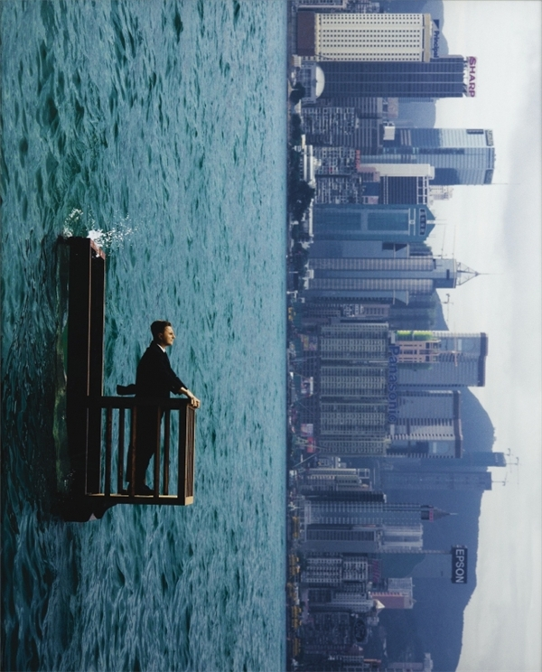 Bức ảnh không qua Photoshop của nhiếp ảnh gia người Pháp Philippe Ramette.