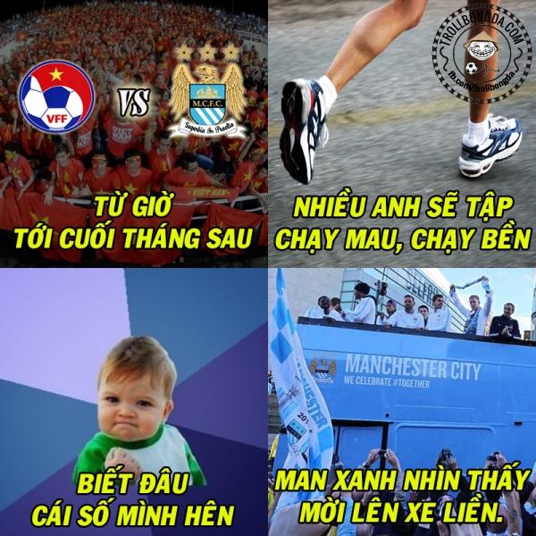 Các fan Man City đang rất sốt sắng.