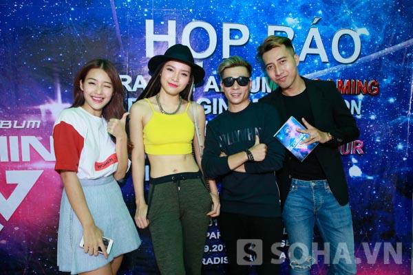 Có mặt cùng thời điểm với OnlyC, hot girl Khả Ngân, ca sĩ Phương Trinh Jolie đã gửi lời chúc mừng cho bước tiến mới của GIN trong sự nghiệp chơi nhạc.