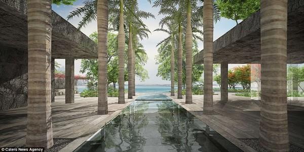 Khu vực chỉ dành riêng cho đi dạo và tắm nắng của căn penthouse số 1 Dubai.