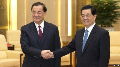 Ông Hồ Cẩm Đào gặp ông Liên Chiến năm 2013.