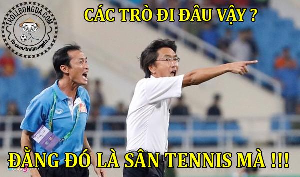 U23 Việt Nam đã đánh tennis trước U23 Brunei