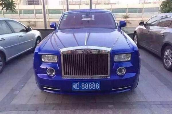 Rolls-Royce Phantom biển số D.88888 với mức giá 6.88-8.01 triệu tệ (tương đương 24.3-28.29 tỷ đồng)