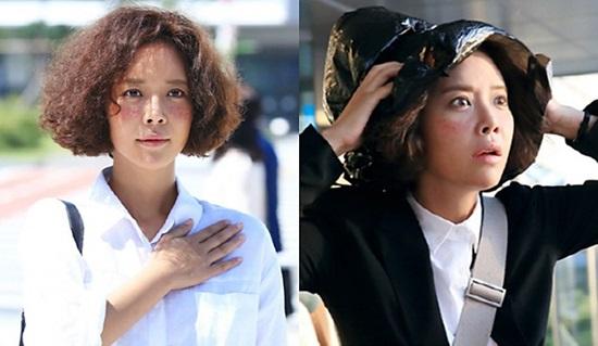 Mặc dù hồi bé là một cô gái rất xinh xắn nhưng lớn lên nhân vật Hye Jin của Hwang Jung Eum trong She was pretty lại vô cùng xấu xí với mái tóc xoăn xù và khuôn mặt đầy tàn nhang. Diện mạo của cô đã khiến mối tình đầu của mình không thể ra nhận nổi, thậm chí còn kinh sợ.