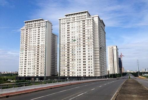 Một góc chung cư đã hoàn thiện và giao nhà của khu đô thị Dương Nội.