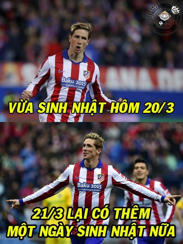 Torres quả có nhiều ngày sinh nhật