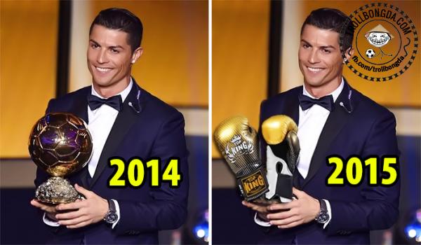 Năm 2015, Ronaldo sẽ được đề cử Găng tay vàng sau khi đấm đối thủ