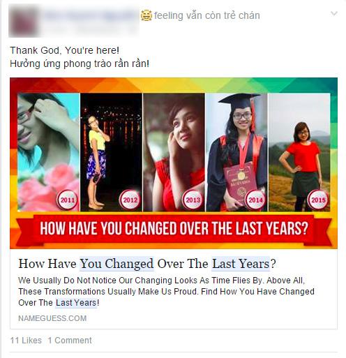 Còn bạn,cách đây 5 năm bạn đã trông như thế nào?