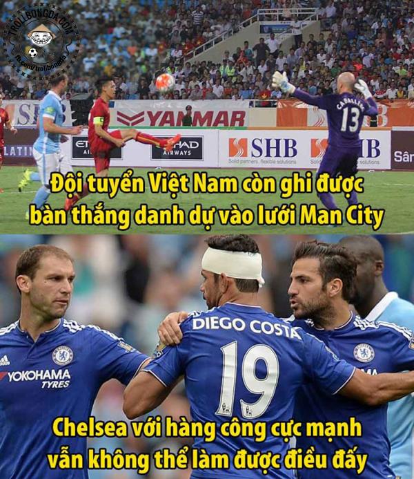 Văn Quyết còn sút tung lưới Man City. Trong khi hàng loạt ngôi sao đắt giá của Chelsea không làm được điều này.