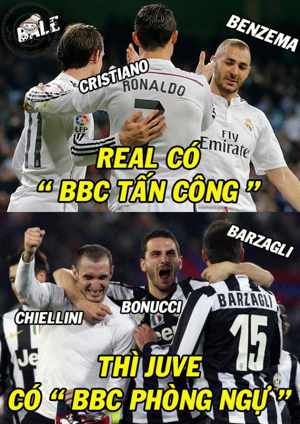 BBC của Real đã bại trước BBC của Juventus