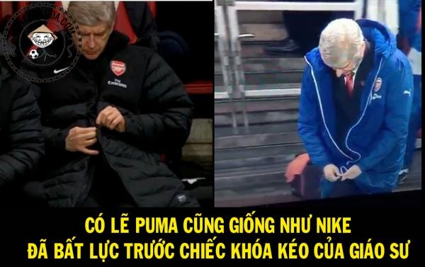 Wenger có biết xài khóa kéo không nhỉ??
