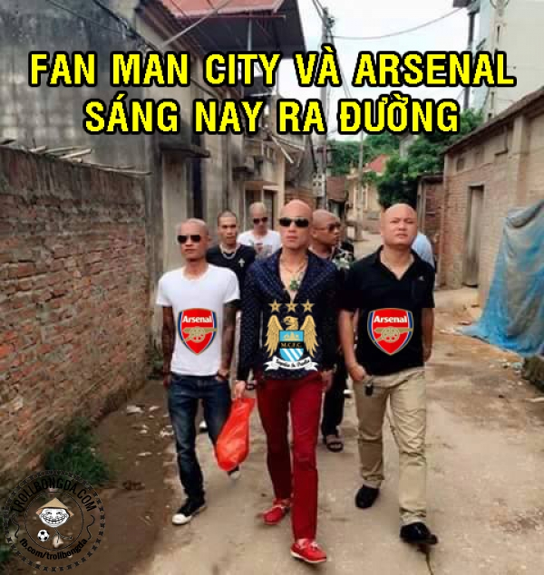 Các CĐV Man City và Arsena đang ngập tràn tự hào.