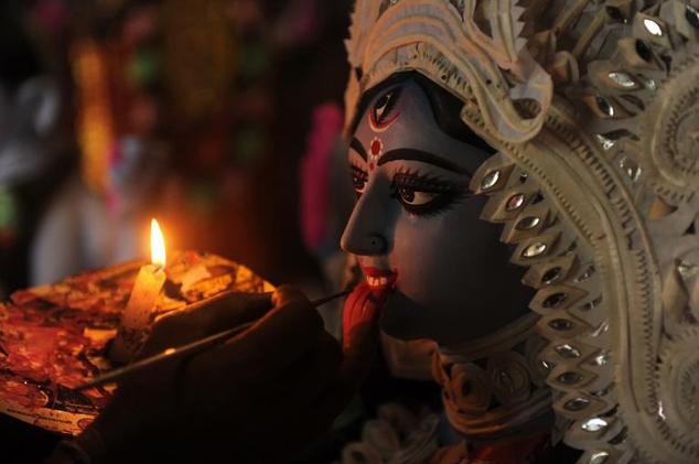 Tượng thần Kali, đại diện cho quyền năng trong đạo Hindu.