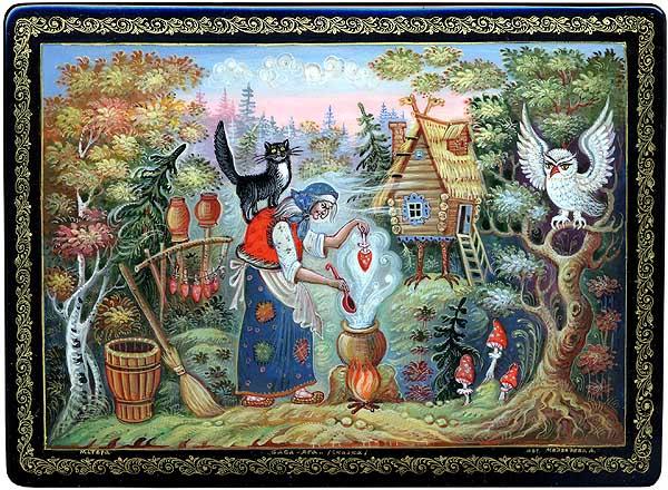 Baba Yaga xuất hiện nhiều trong các câu chuyện dân gian
