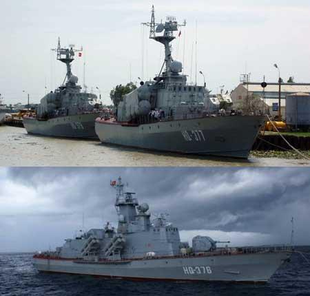 Tàu Tarantul cũ (phía trên), sau nâng cấp sẽ có cáu hình vũ khí, trang bị giống tàu Molniya (phía dưới)