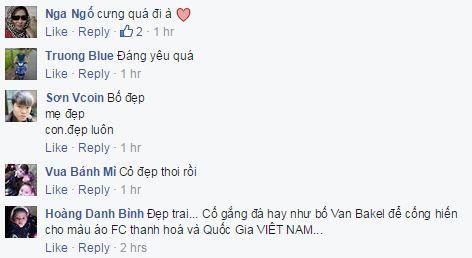 Các CĐV Thanh Hóa rất phấn khích với hình ảnh con trai của cặp đôi Van Bakel - DJ Myno.