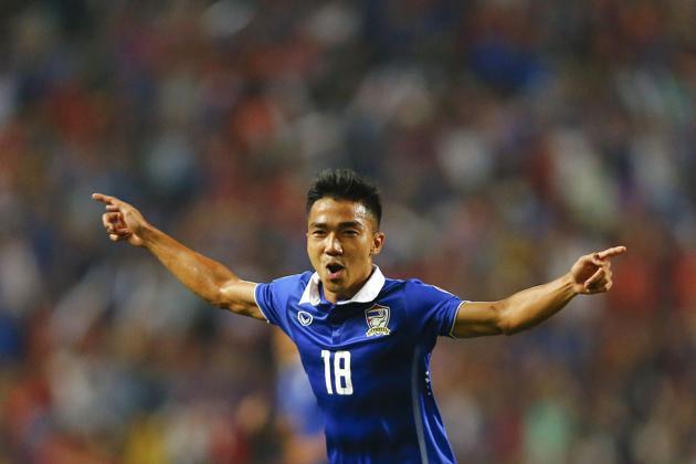 Chanathip Songkrasin còn ở độ tuổi U23 nhưng đã là trụ cột ĐTQG Thái Lan.