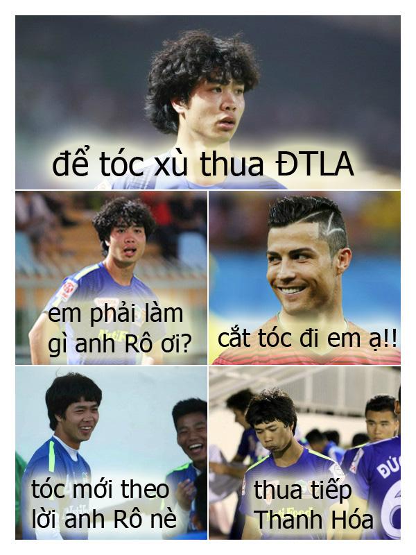 Ronaldo lừa Công Phượng cắt tóc