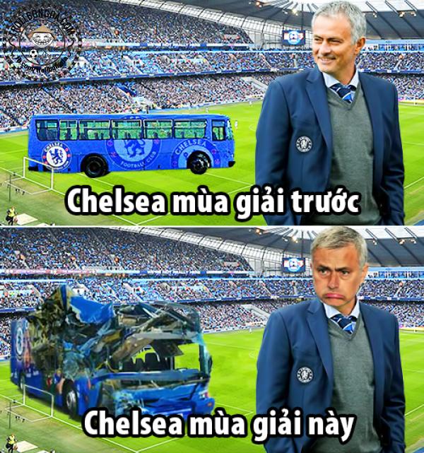 Chiếc xe bus mang tên Chelsea đã tan nát trước Man City.