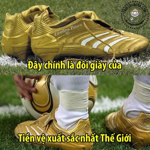 Đôi giày rực rỡ của Zidane.