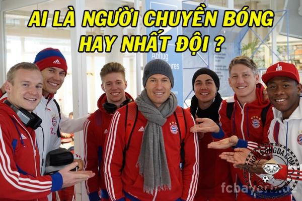 Robben đồng đội ghê!