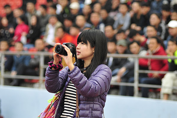Hata Megumi trong một trận đấu của HAGL