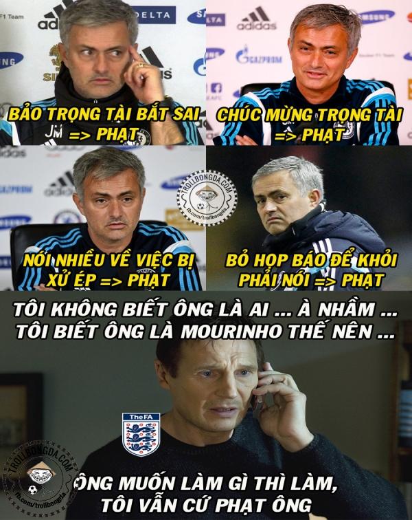 Khổ thân Mourinho