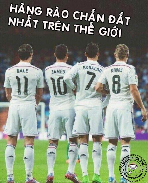 Real Madrid sở hữu những cầu thủ đắt giá