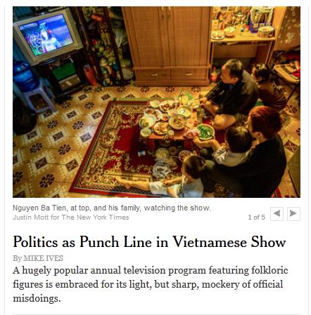 Bài báo được đăng tải trên New York Time.