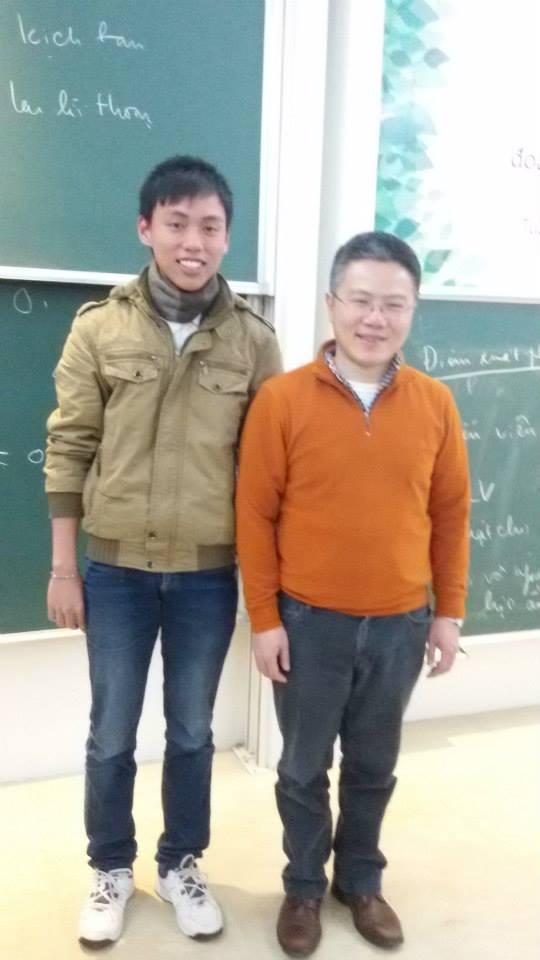 Hoàn may mắn được gặp gỡ và nghe GS Ngô Bảo Châu chia sẻ kinh nghiệm học toán.
